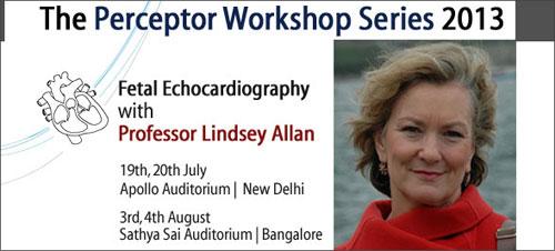 Prof Lindsey Allan Fetal echocardiography Workshop at Apollo Hospitals, New Delhi
