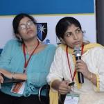 Dr Ashwini Manu Rathi, Consultant Fetal Medicine, Mumbai and Dr Rachna Gupta, Consultant, Fetal Medicine, Maharaja Agarsen Hospital, New Delhi concentrating on the case put up for panel discussion by Dr Ritika